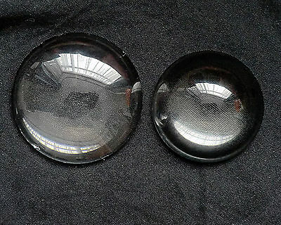 """Vintage 2 convex glass lens 2"""" and 2.5"""" Slide projection,or scientific use"""