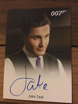 James Bond 2016 Spectre Edition Autograph Card Jake Seal as Bartender