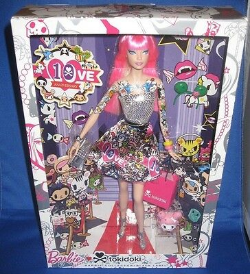 Barbie Collector 10Th Anniversary 1Oves Tokidoki Tattoo Barbie Doll, Nrfb