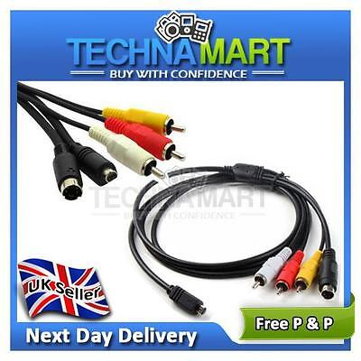 Replacement for VMC-15FS AV TV Out Cable Lead Handycam Camcorder Sony HDR DCR UK