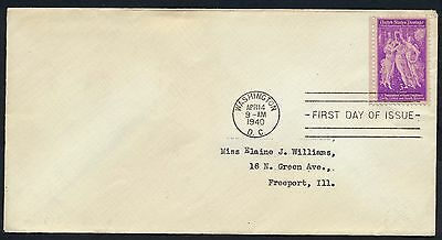 UNITED STATES OF AMERICA 1940 FIRST DAY COVER USA FDC #a346 WASHINGTON CANCEL!