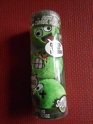 Juggling Zombie Heads ~ Set Of 3 Balls