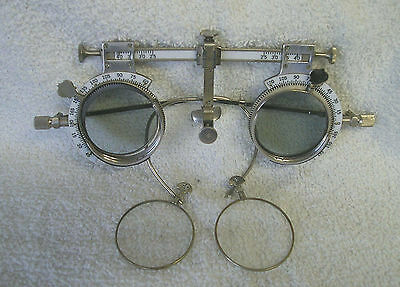 Optometrist Trial Frame.. Steampunk Style with colored lenses