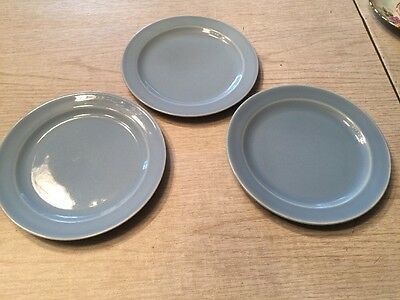 "3 Taylor Smith & Taylor LuRay Pastels 6"" Bread and Butter Plates blue"