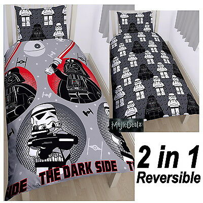 Lego Star Wars Villains Single Duvet Cover Set Rotary Reversible Kids Bedding