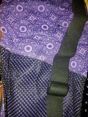 NEW Collapsible YOGA MAT BAG Purple Paisley + FREE Fitness Bonuses!
