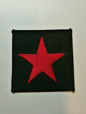 Red star Rage Against The Machine RATM Tom Morello woven patch red Zapatista