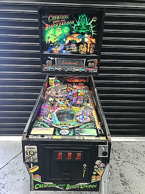 Creature From The Black Lagoon Pinball Machine Leds Added Hologram Working
