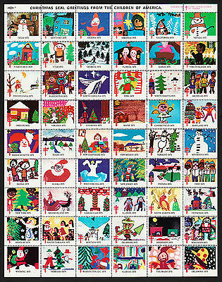 OPC 1975 American Lung Association Christmas Seal Sheet of 54 Sc#WX254 Perf 12.5