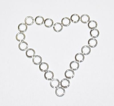 Sterling 925 Solid Silver, Heavy, Open Jump Rings 3,4,5,6,7,8,9,10mm,Findings.