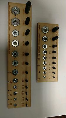 NEW MADE IN USA LASER CUT SCREW AND NUT GAUGE METRIC AND US Set Of 2