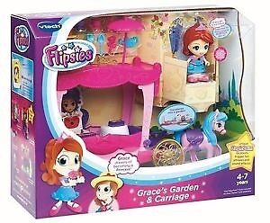Vtech Flipsies - Grace's Garden & Carriage 2 in 1 Playset - BNIB