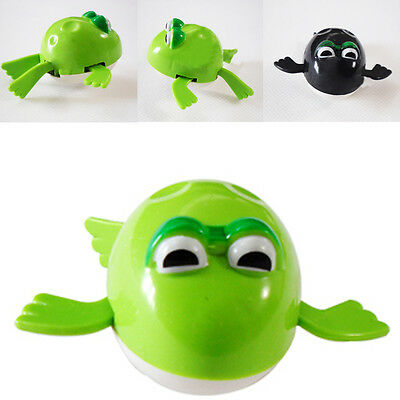 Funny Wind up Swimming Frog Pool Animal Toys For Baby Kids Bath Time