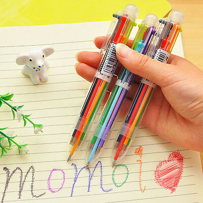 Multi-color Transparent  Ballpoint Pen Refill Student Stationery Multifunction