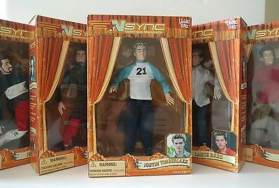 NSYNC COLLECTIBLE MARIONETTE DOLLS (SET OF 5)  Boy Band Music 2000's NEW