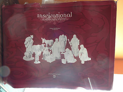 Dept 56 78678 Inspirational Silhouette Miracle Of Christmas Nativity Set Village