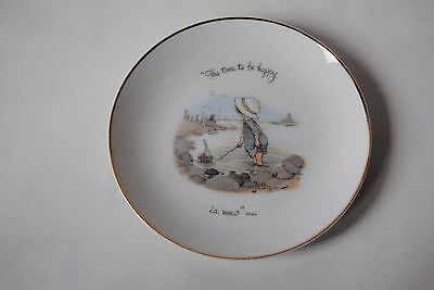 """Vintage 1973 HOLLY HOBBIE Decorative Plate """"The Time To Be Happy Is Now"""""""