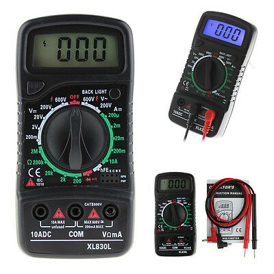 Digital XL-830L LCD Multimeter Voltmeter Ammeter DC/AC/OHM Volt Current Tester