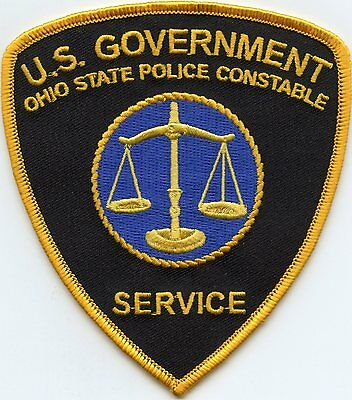 United States Government Ohio Oh State Police Constable Police Patch
