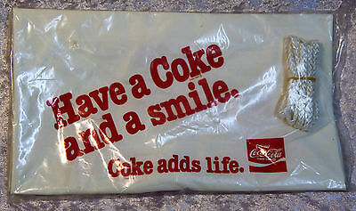 """Vintage Coca Cola """"Have a Coke and a Smile"""" Inflatable Pool toy """"Coke Adds Life"""""""