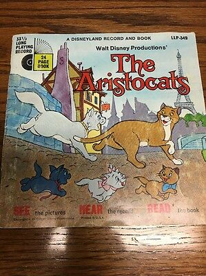 Walt Disney The Aristocats Book And Record