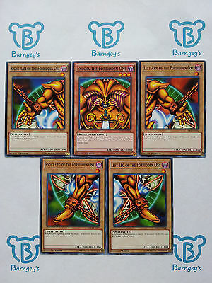 Complete Exodia Set,Exodia The Forbidden One,ALL 5 PIECES,LDK2,NM,Yugioh,Barngey
