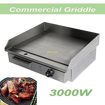 Commercial Electric Griddle Grill Countertop Hot Plate BBQ 3000W 50°C to 300°C
