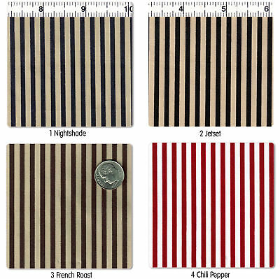 """Polycotton Clothes Dress Bedding Cosplay Costume Fabric 3Mm Stripe 31 Colors 44"""""""