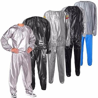 Heavy Duty Sweat Sauna Suit Anti-Rip Fitness Exercise Fat Burn Weight Loss Gym