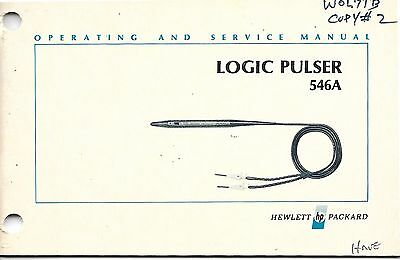 Hewlett Packard 546A Logic Pulser Operating and Service Manual HP