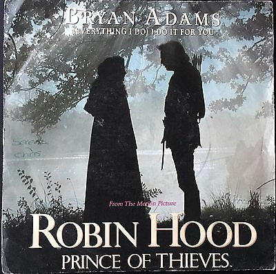 "BRYAN ADAMS - (EVERYTHING I DO) I DO IT FOR YOU  (1991)  7"" vinyl single"