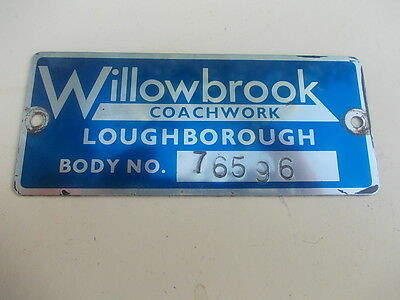 Willowbrook Coach Body Plate