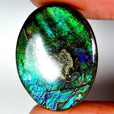 RARE 17.45cts 100% NATURAL EXCLUSIVE TOP SHINING AMMOLITE OVAL CABOCHON GEMSTONE