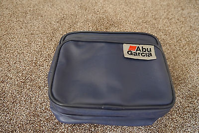 ABU GARCIA LEATHERETTE REEL CASE No2 USED COARSE FISHING TACKLE GEAR SET UP