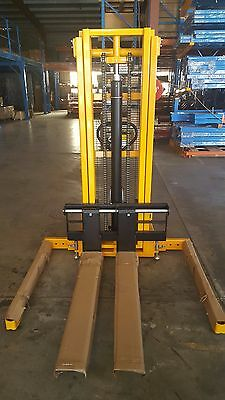 Quick Lift Manual Stacker Hydraulic Pallet Lifter Walkie Fork Lift Hand Forklift