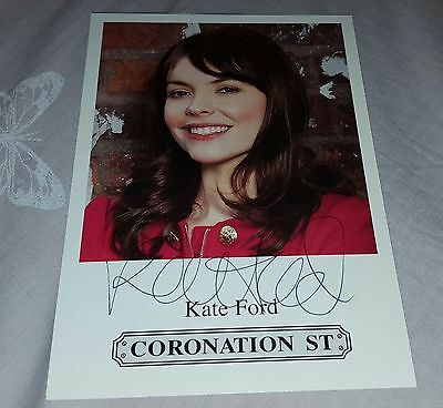 Kate Ford 6x4 Original CORONATION STREET Signed CAST CARD ( Tv Theatre )
