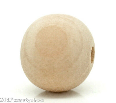 """100PCs Natural Ball Round Wood Spacer Beads 14x13mm(1/2""""x1/2"""")"""