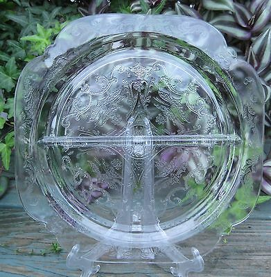 Federal Glass vintage clear glass Madrid grill plate