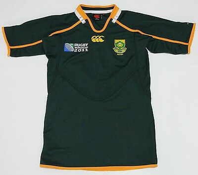 2011 Rugby World Cup Men's South Africa Canterbury Ccc Jersey Rare! Small