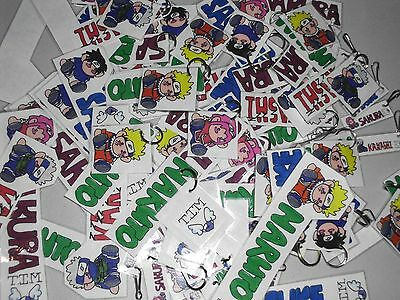 Lot of over 70 Anime Fan Art Keychains & Bookmarkers 'Naruto' see photos