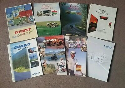 Giant Bicycles Catalogues : 1988,1989 (race+atb),1990,1991,1992,1993,2009