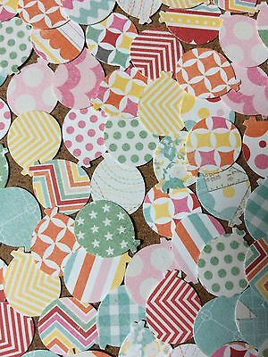 100 Balloon embellishments for card making scrapbooking crafts mixed colours