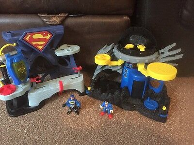 superman/ Batman  imaginext Play set Incomplete