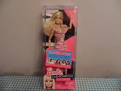 Barbie Fashionistas Swappin Styles Glam Doll Brand New In Box