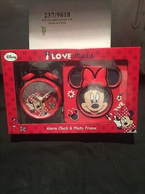 Minnie Mouse Alarm Clock And Photo Frame Gift Set