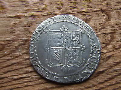 Scotland.  James Vi. Silver Thirty Shillings.  Rare.   Nice Condition.