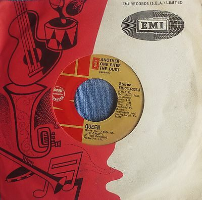 Scarce Queen vinyl 45 - Another One Bites The Dust - Philippines EMI-73-X-226