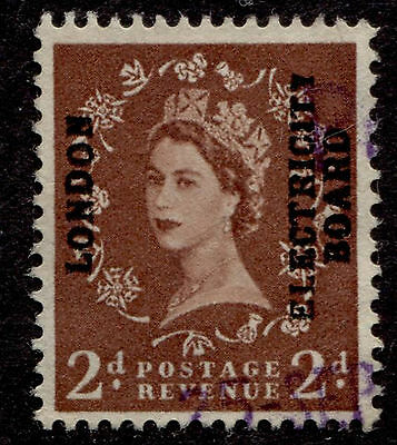 GB 2p QEII London Electricity Board Commercial Overprint Used