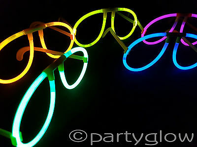 25 x Sets Glow In The Dark Glasses Glow Stick Glasses Raves Parties Festivals