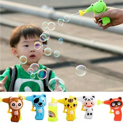 Kid Automatic Bubble Blaster Maker Blower Gun Toy With Different Patterns